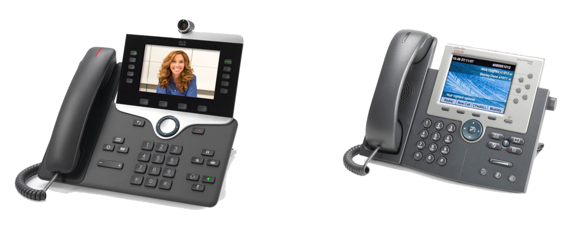 Cisco Phones with video screens and cameras