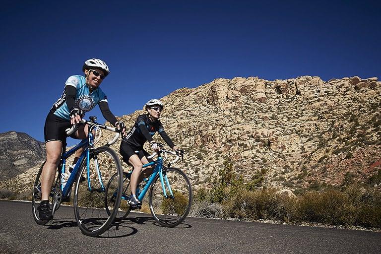Two bike riders in the Las Vegas community
