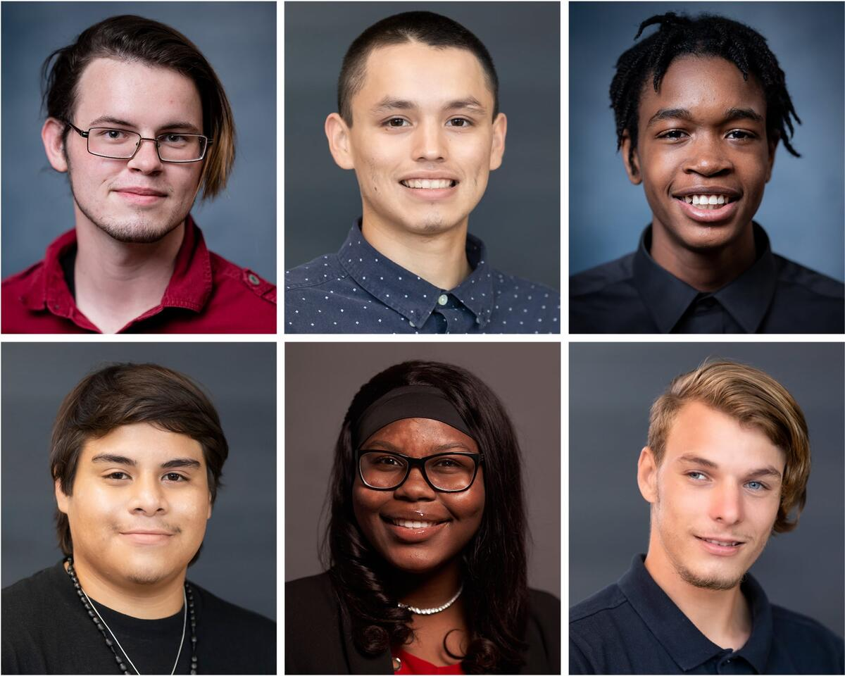 Six different students from the Foster Youth Inaugural Cohort