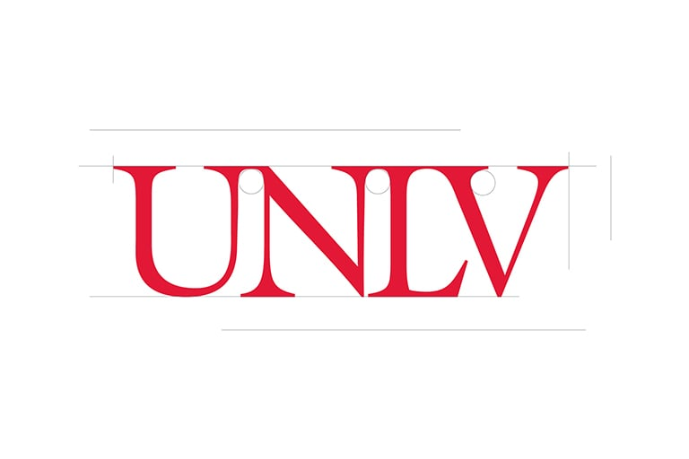 UNLV Logo in legacy text font