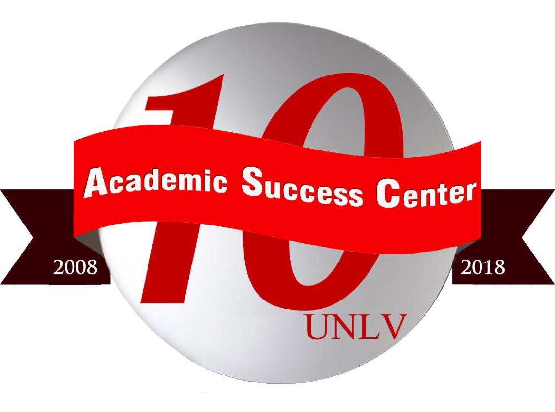 Academic Success Center 10 year Anniversary logo