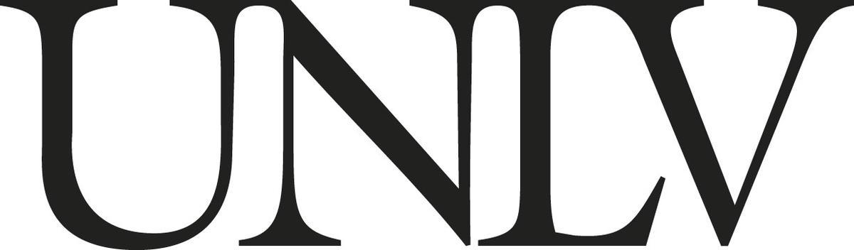 UNLV logo in grayscale