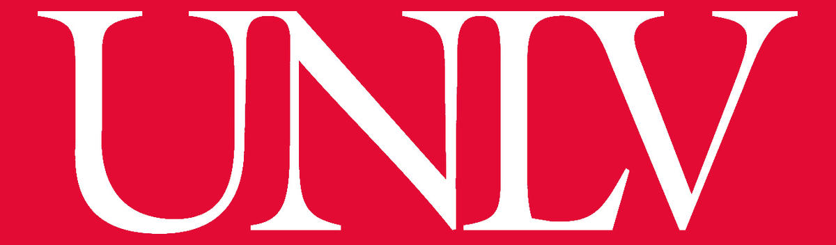 UNLV logo with red background