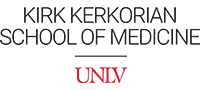 Kirk Kerkorian School of Medicine UNLV vertical logo