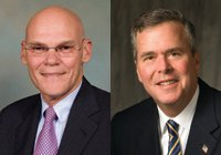 Bush and Carville Portraits
