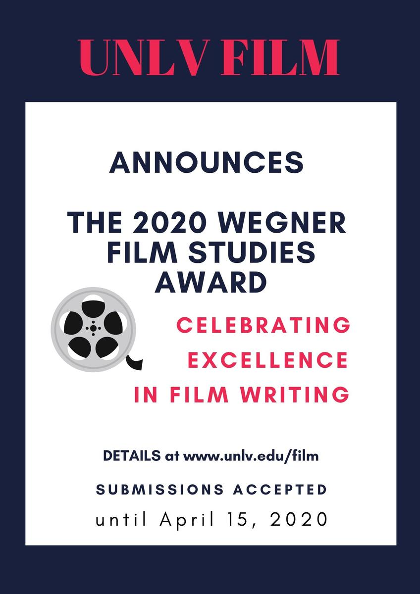 Hart Winnie Wegner Award For Film Studies Department Of Film University Of Nevada Las Vegas