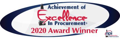 Achievement of Excellence in Procurement - 2020 Award Winner