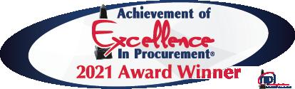 Achievement of Excellence in Procurement - 2021 Award Winner