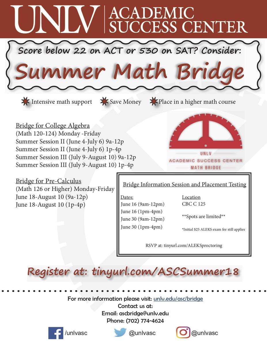 Summer Math Bridge Flyer