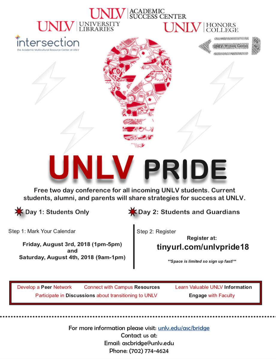 UNLV PRIDE flyer