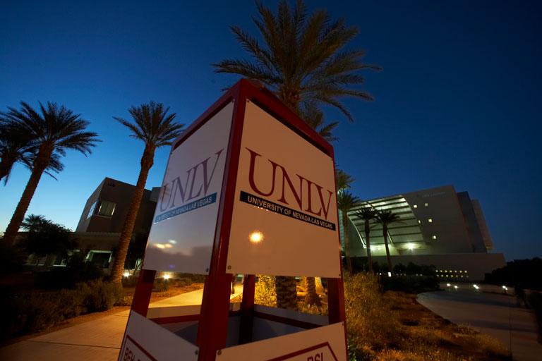 UNLV campus at night