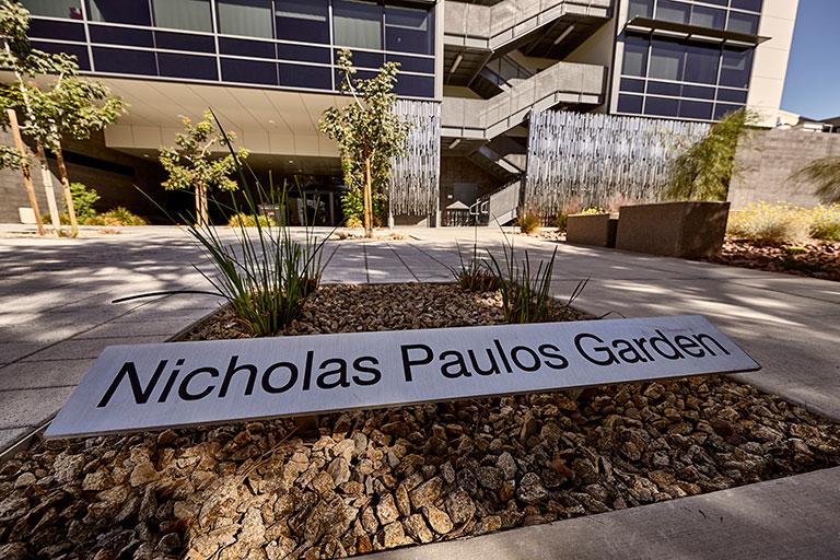 Sign of the Nicholas Paulos Garden
