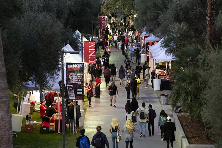 UNLV campus during a festival