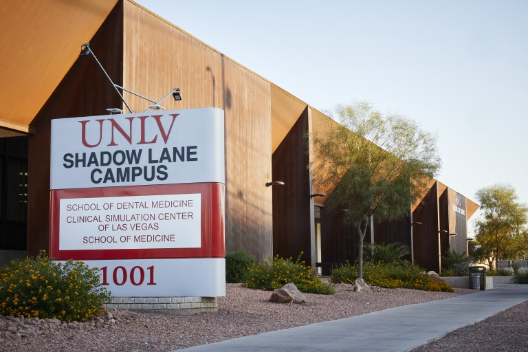 UNLV Shadow Lane Campus building and sign