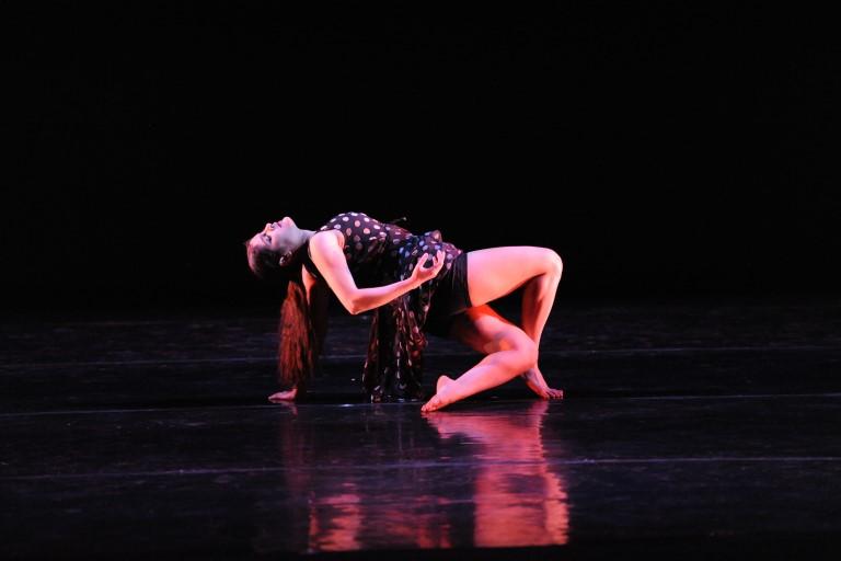 Dancer leaning back