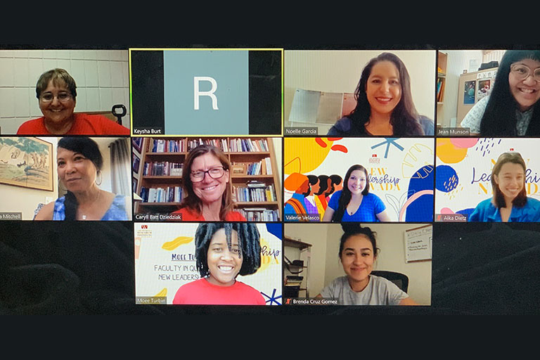 Group of women in a Webex meeting