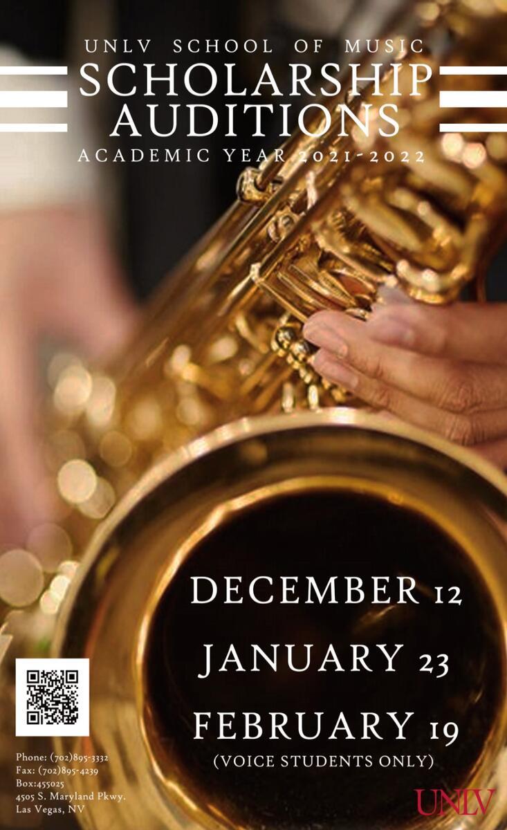 UNLV School of Music Scholarship Auditions Poster