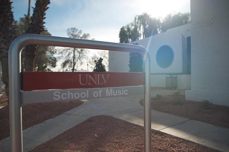 School of Music Sign