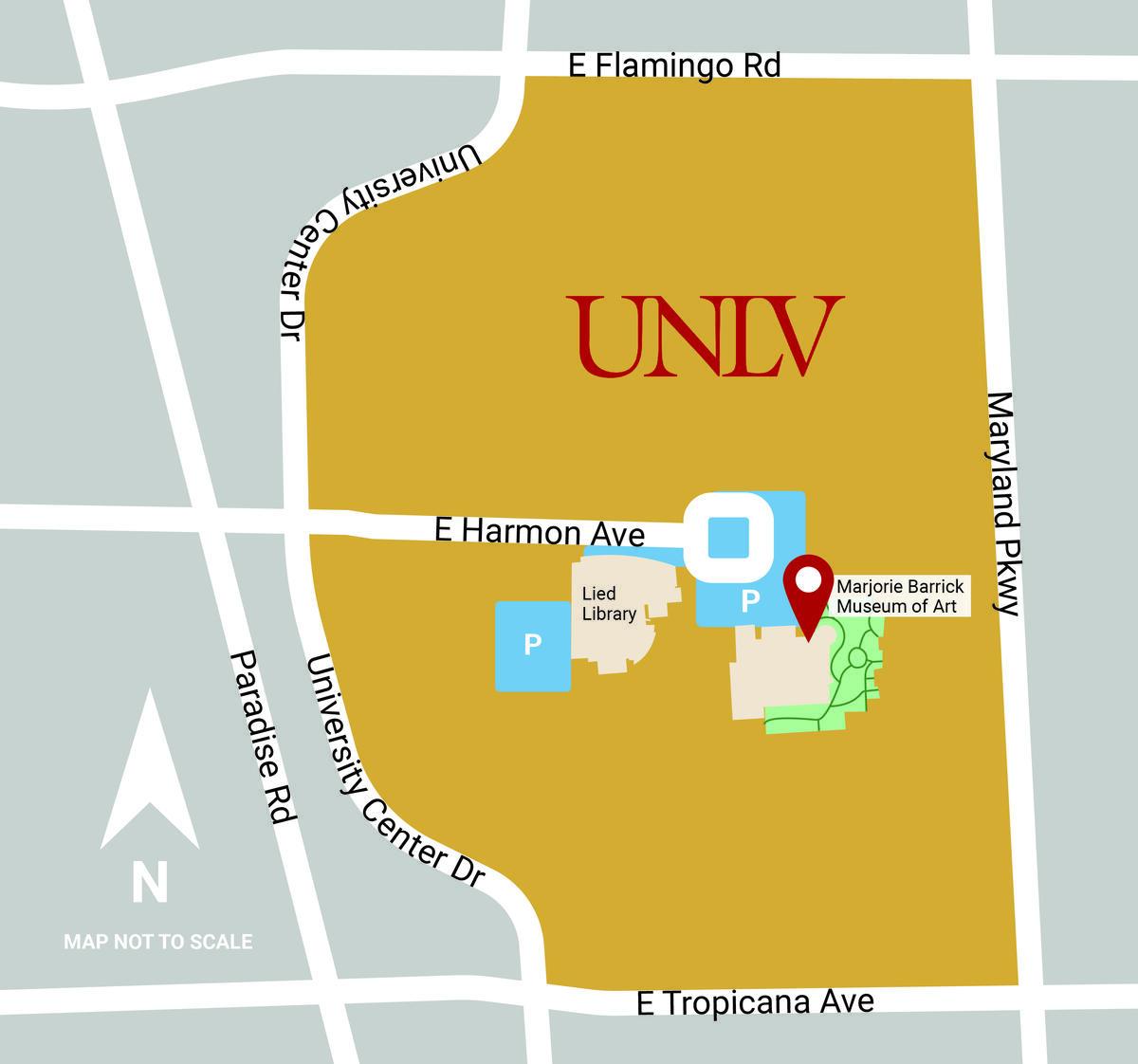 Barrick Museum Map