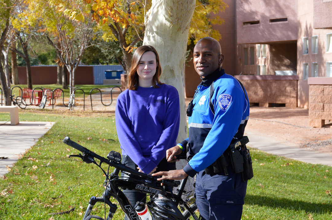 Officer Courtland Smith with Rebecca Chambers