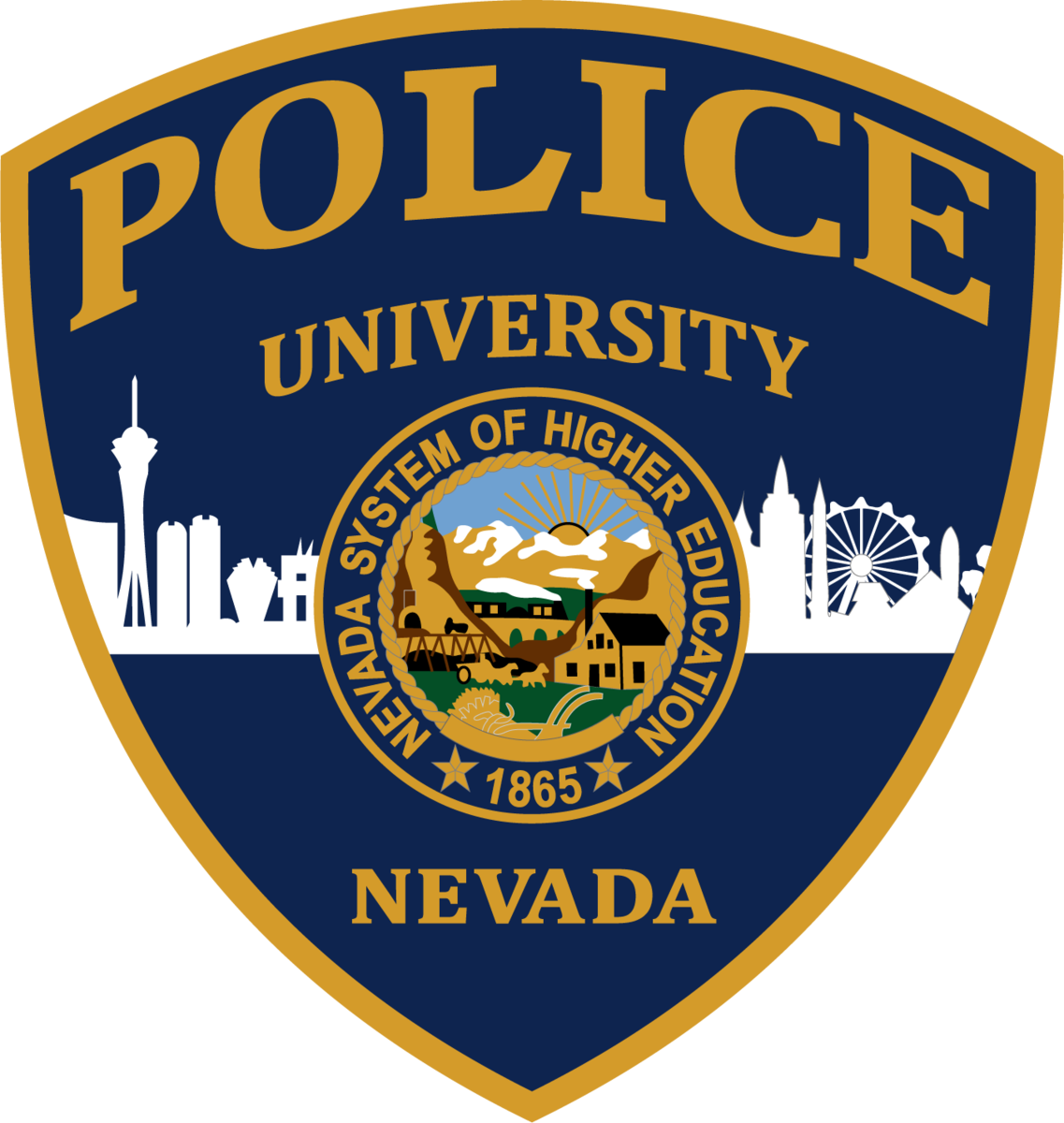 UNLV Police patch art