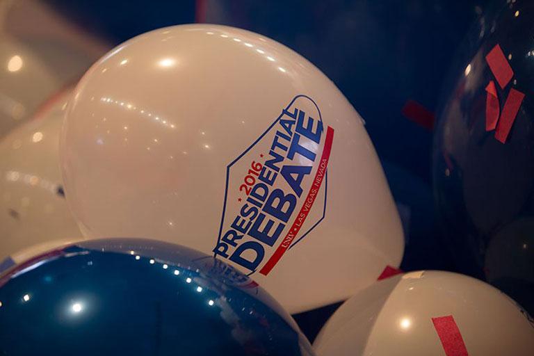 Presidential Debate Balloons