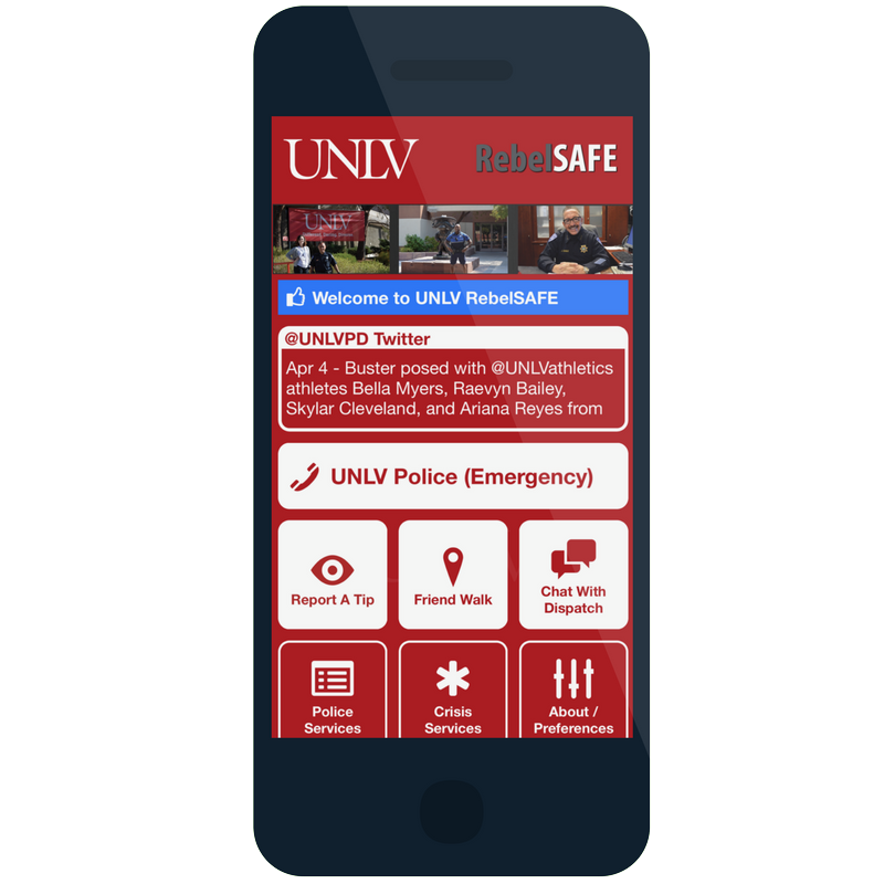 The RebelSAFE app on a mobile phone