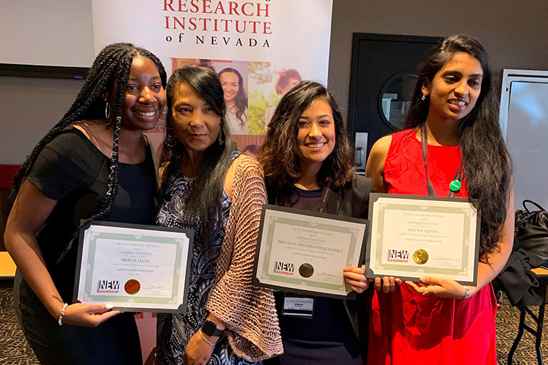 Four women with awards