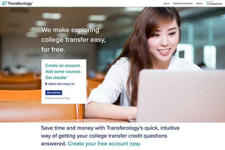 transferology homepage screenshot