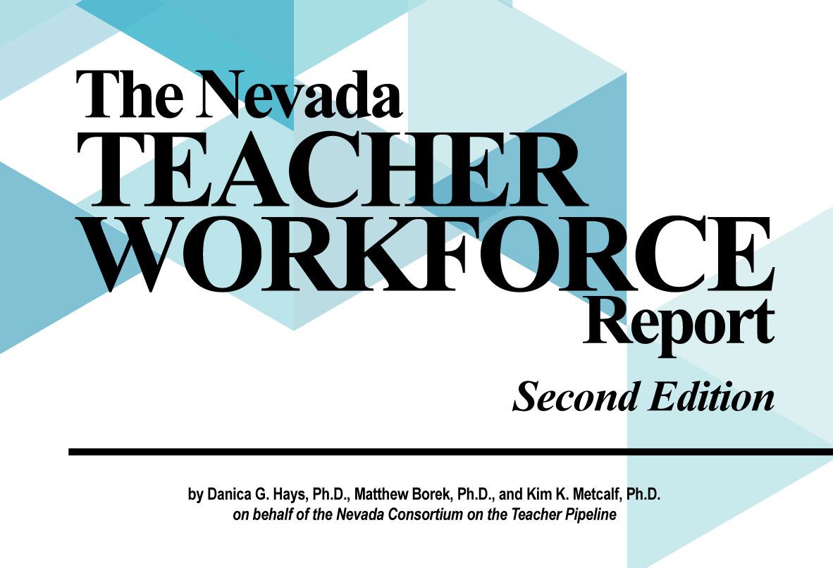 Cover art for the second edition of Nevada Teacher Workforce Report