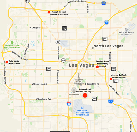 UNLV Pollen Mold Site Locations