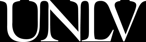 Official UNLV logo with white text and black background
