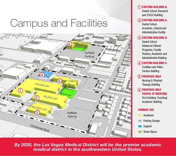 Map of UNLV campus and facilities