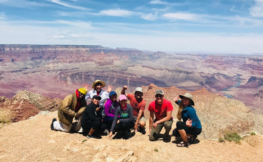 Group of people on a hike