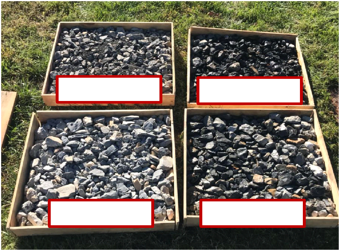 Ballast Samples used for Outdoor Testing