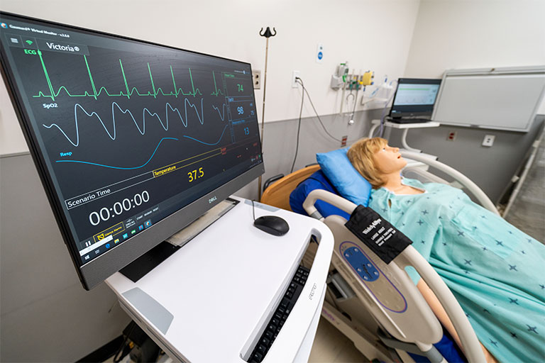 A room in the Clinical Simulation Center of Las Vegas (CSCLV)