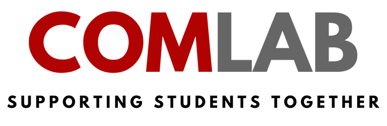 COMLAB supporting students together logo