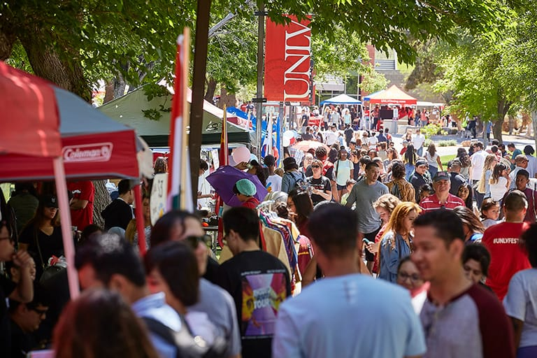 The community turns out for UNLV's Festival of Communities.