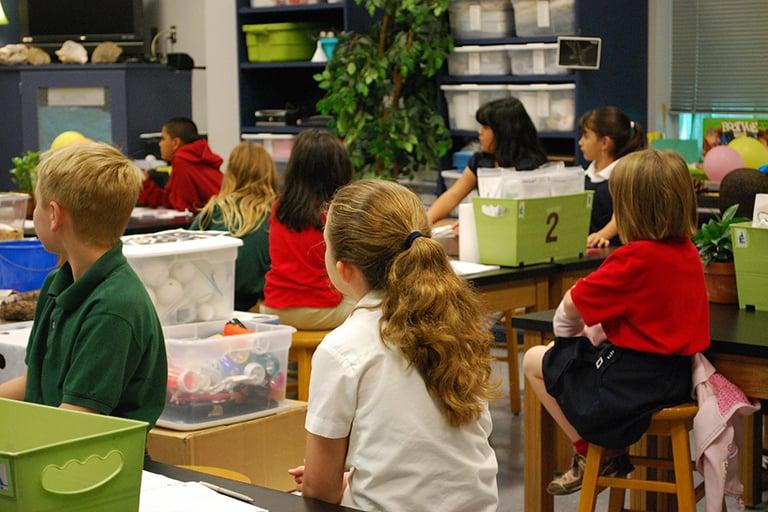 A classroom full of pre-schoolers.