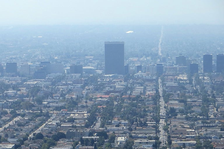 City with air pollution
