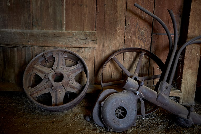 Rusting artifacts from Walking Box Ranch