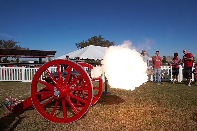 Fremont Cannon being fired