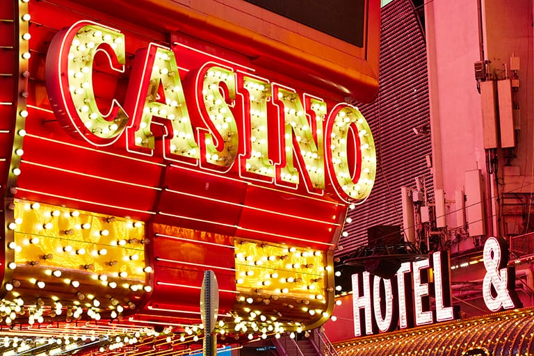Neon sign that says Casino