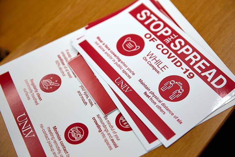 COVID brochures