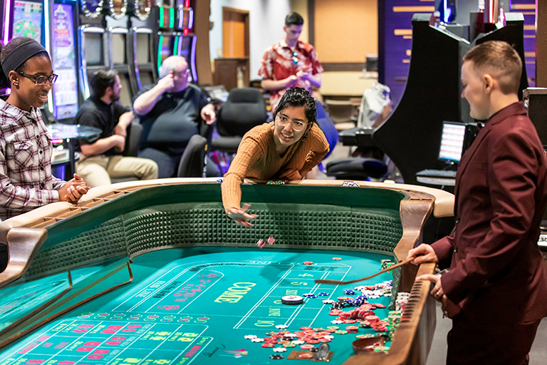 People at a craps table