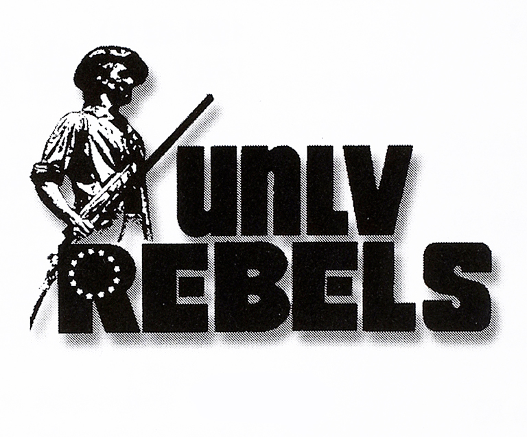 Realistic looking soldier with U.N.L.V. Rebels text
