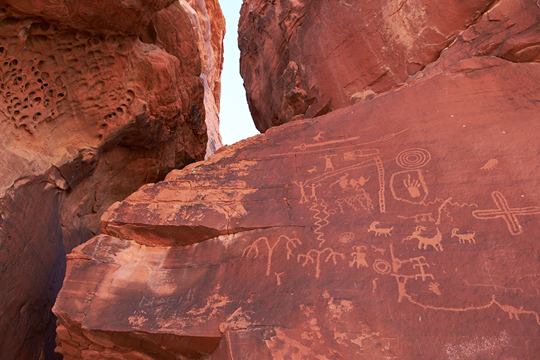 Petroglyphs at the Valley of Fire state park