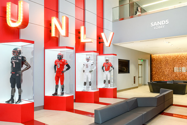 Fertitta Football Complex lobby