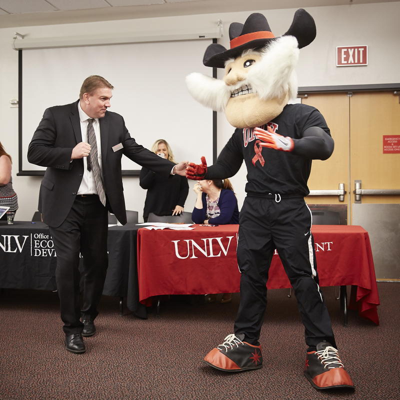 Associate Vice President of Economic Development Zach Miles and Hey Reb!