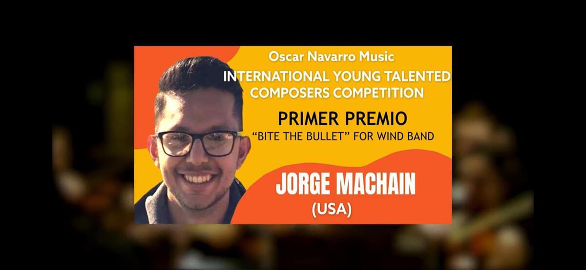 Jorge Machain Wins International Composition Competition